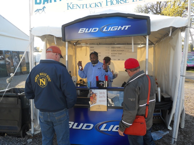 Not to worry, the bar is open at 7:30 a.m.  Go Kentucky Horse Park!  Big John fixed the wanna-be shoppers up with consolation bloody marys.